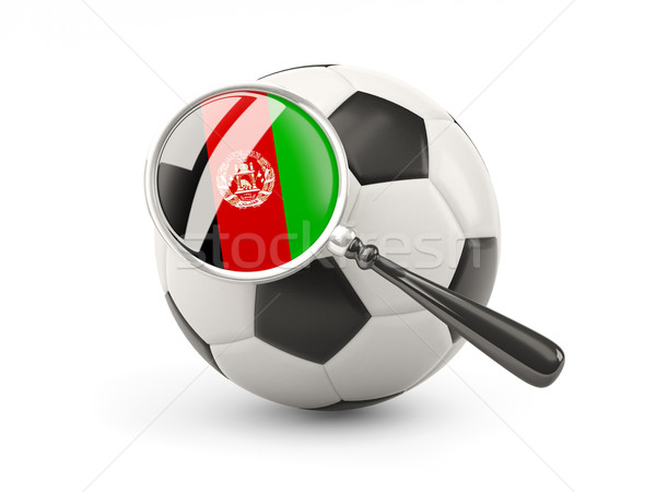 Football with magnified flag of afghanistan Stock photo © MikhailMishchenko