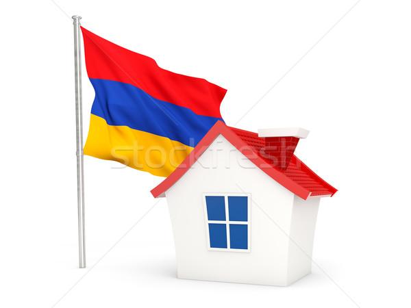 家 フラグ アルメニア 孤立した 白 ホーム ストックフォト © MikhailMishchenko