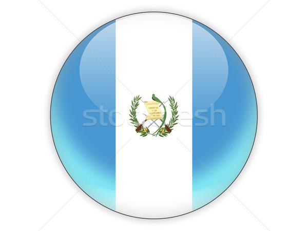 Round icon with flag of guatemala Stock photo © MikhailMishchenko