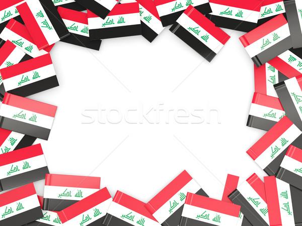 Quadro bandeira Iraque isolado branco Foto stock © MikhailMishchenko