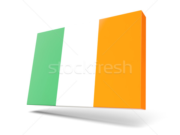 Square icon with flag of ireland Stock photo © MikhailMishchenko