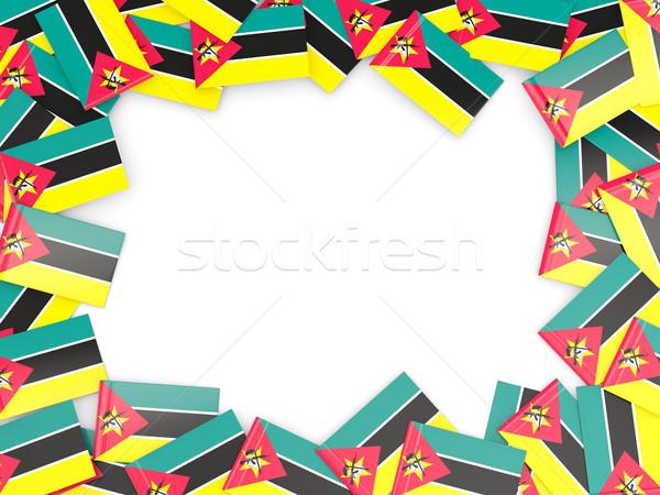 Frame with flag of mozambique Stock photo © MikhailMishchenko