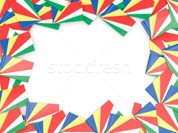 Frame with flag of seychelles Stock photo © MikhailMishchenko