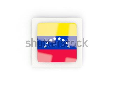 Square sticker with flag of venezuela Stock photo © MikhailMishchenko