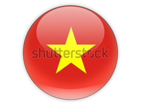 икона флаг Вьетнам изолированный белый путешествия Сток-фото © MikhailMishchenko