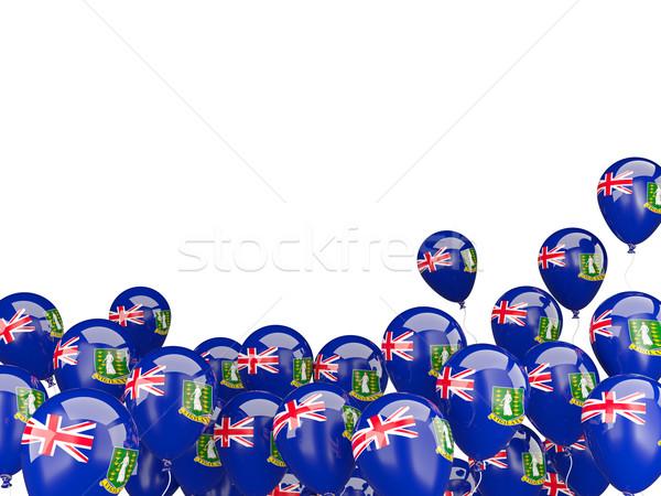 Flying шаров флаг Виргинские о-ва британский изолированный Сток-фото © MikhailMishchenko