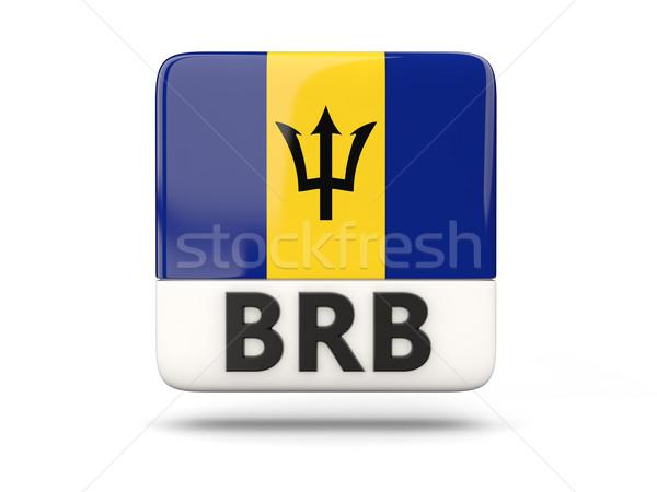 Kare ikon bayrak Barbados iso kod Stok fotoğraf © MikhailMishchenko