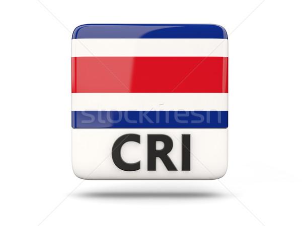 Cuadrados icono bandera Costa Rica iso código Foto stock © MikhailMishchenko