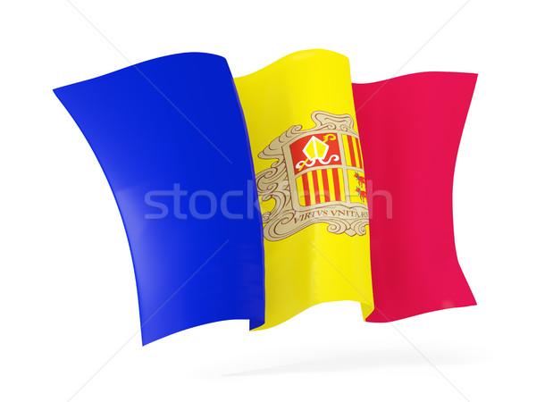 Waving flag of andorra. 3D illustration Stock photo © MikhailMishchenko