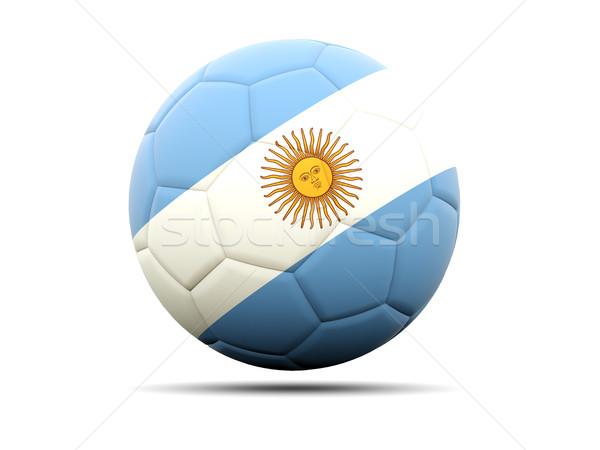 Fútbol bandera Argentina 3d fútbol deporte Foto stock © MikhailMishchenko