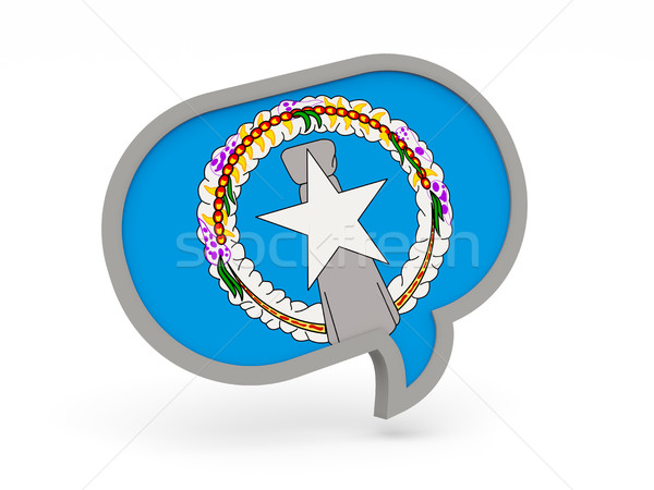 Chat icon with flag of northern mariana islands Stock photo © MikhailMishchenko