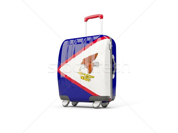Bagagem bandeira americano mala isolado branco Foto stock © MikhailMishchenko