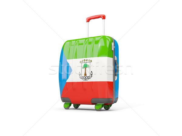 Bagage vlag koffer geïsoleerd witte 3d illustration Stockfoto © MikhailMishchenko