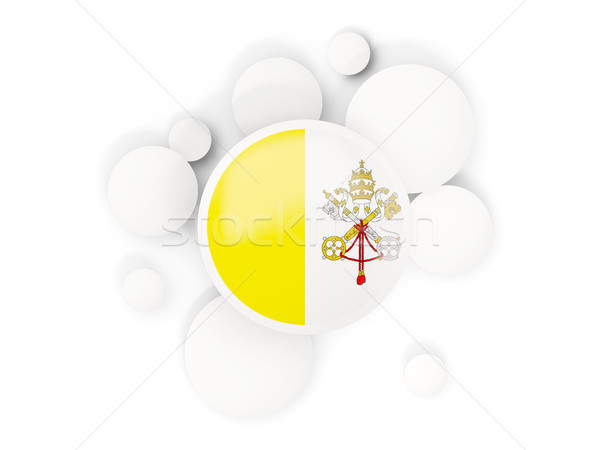 флаг Ватикан город Круги шаблон изолированный Сток-фото © MikhailMishchenko