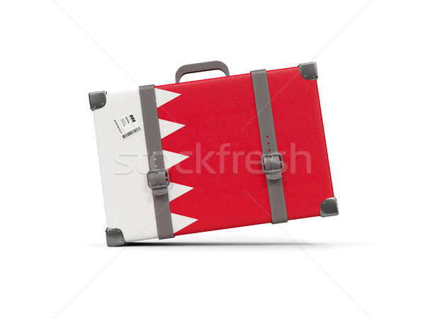 Bagagem bandeira Bahrein mala isolado branco Foto stock © MikhailMishchenko