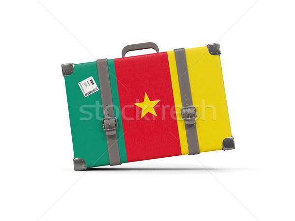Bagaj bayrak Kamerun bavul yalıtılmış beyaz Stok fotoğraf © MikhailMishchenko