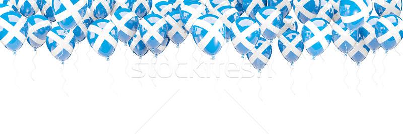 Balões quadro bandeira escócia isolado branco Foto stock © MikhailMishchenko