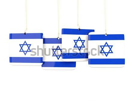 Vet spaarvarken Israël geld geïsoleerd witte Stockfoto © MikhailMishchenko