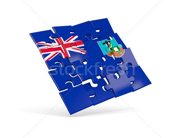 Puzzle flag of montserrat isolated on white Stock photo © MikhailMishchenko