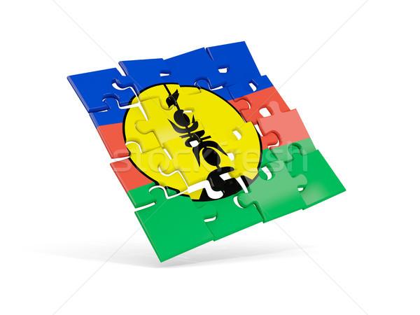 Puzzle flag of new caledonia isolated on white Stock photo © MikhailMishchenko