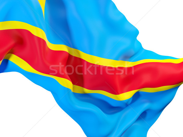 Waving flag of democratic republic of the congo Stock photo © MikhailMishchenko