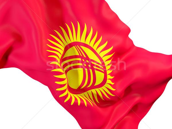 Bayrak Kırgızistan 3d illustration seyahat Stok fotoğraf © MikhailMishchenko
