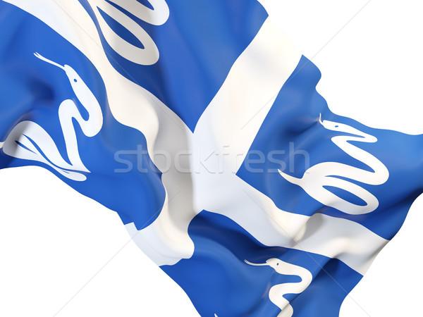 Waving flag of martinique Stock photo © MikhailMishchenko