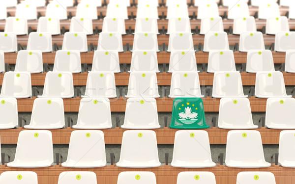 Stadium seat with flag of macao Stock photo © MikhailMishchenko