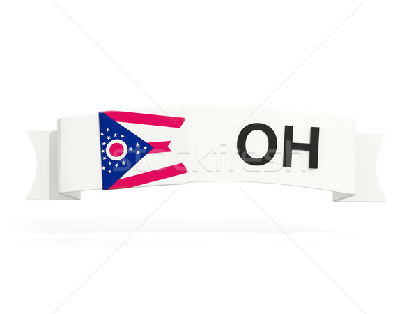 ohio state flag on banner with postal abbreviation isolated on w Stock photo © MikhailMishchenko