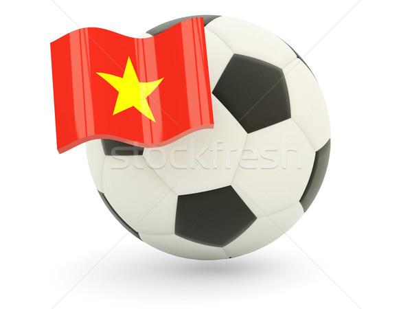 Football pavillon Viêt-Nam isolé blanche sport Photo stock © MikhailMishchenko