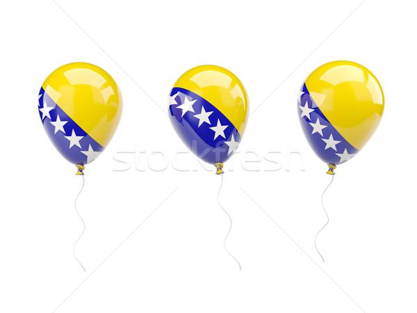 Aire globos bandera Bosnia Herzegovina aislado blanco Foto stock © MikhailMishchenko