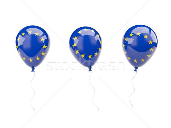 Air balloons with flag of european union Stock photo © MikhailMishchenko