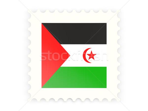 Icon westerse sahara geïsoleerd witte Stockfoto © MikhailMishchenko
