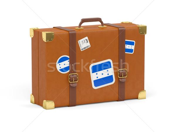 чемодан флаг Гондурас путешествия изолированный белый Сток-фото © MikhailMishchenko