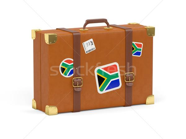 Suitcase with flag of south africa Stock photo © MikhailMishchenko
