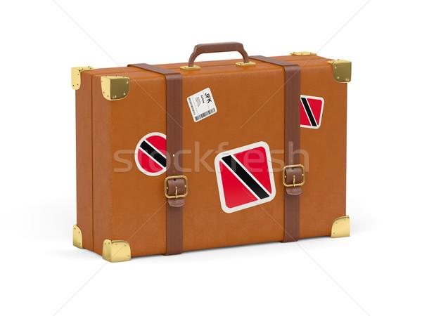 スーツケース フラグ 旅行 孤立した 白 袋 ストックフォト © MikhailMishchenko