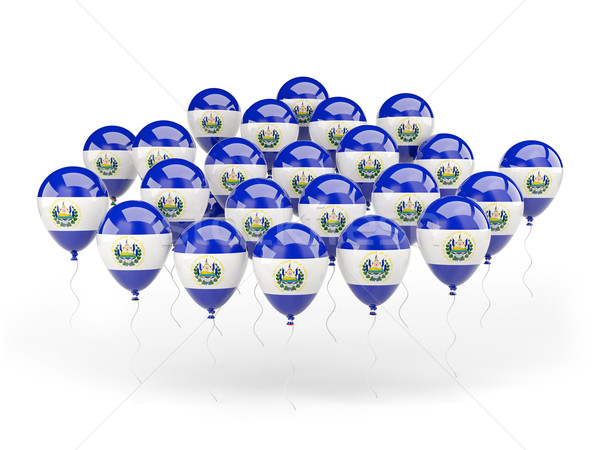 Balloons with flag of el salvador Stock photo © MikhailMishchenko