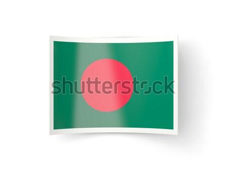Tér fém gomb zászló Banglades izolált Stock fotó © MikhailMishchenko