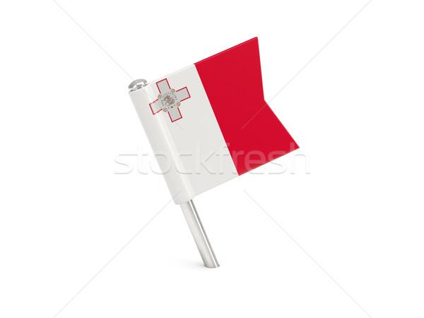 флаг Pin Мальта изолированный белый Сток-фото © MikhailMishchenko