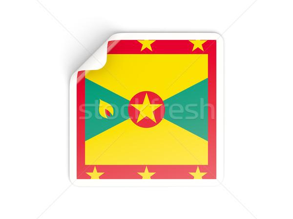 Cuadrados etiqueta bandera Granada aislado blanco Foto stock © MikhailMishchenko