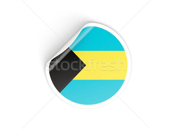 наклейку флаг Багамские острова изолированный белый путешествия Сток-фото © MikhailMishchenko