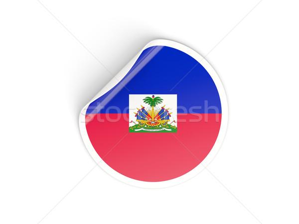 ステッカー フラグ ハイチ 孤立した 白 旅行 ストックフォト © MikhailMishchenko