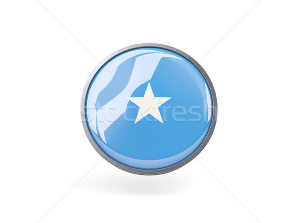 Ikona banderą Somali metal ramki podróży Zdjęcia stock © MikhailMishchenko