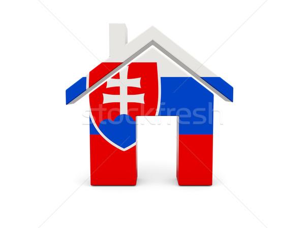 Home vlag Slowakije geïsoleerd witte Zoek Stockfoto © MikhailMishchenko