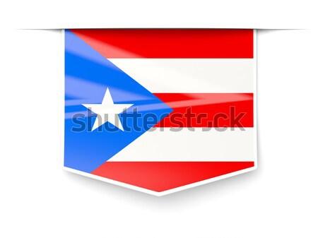Vlag label Cuba geïsoleerd witte teken Stockfoto © MikhailMishchenko