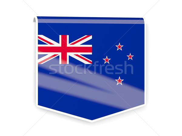 Zászló címke Új-Zéland izolált fehér világ Stock fotó © MikhailMishchenko