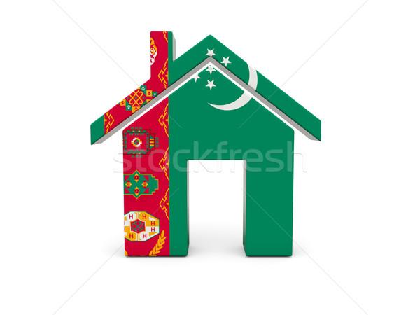 Otthon zászló Türkmenisztán izolált fehér vidék Stock fotó © MikhailMishchenko