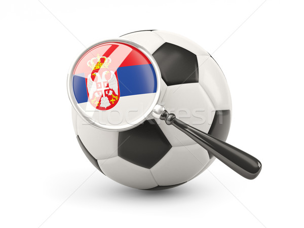 Football with magnified flag of serbia Stock photo © MikhailMishchenko