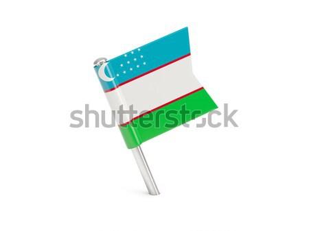Zászló tő Üzbegisztán izolált fehér Stock fotó © MikhailMishchenko