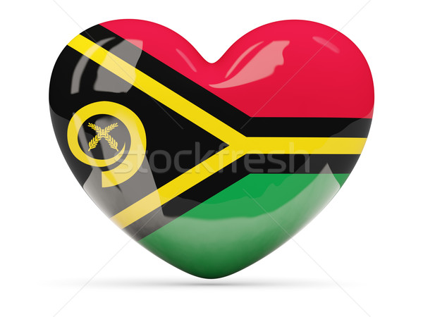 Coração ícone bandeira Vanuatu viajar Foto stock © MikhailMishchenko